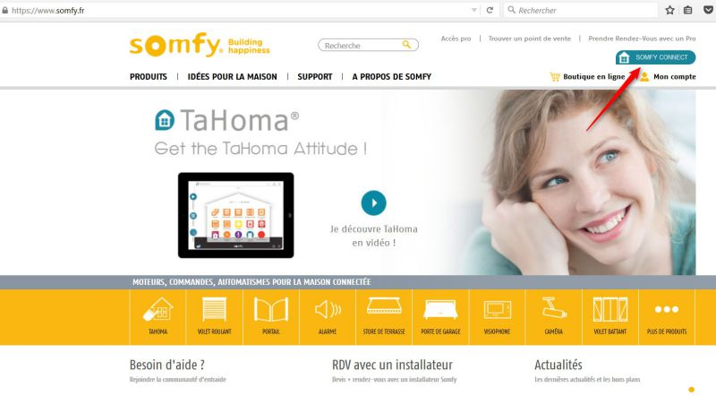 somfy connect