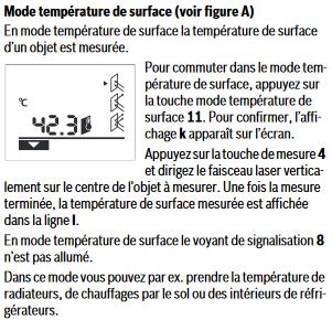 température surface