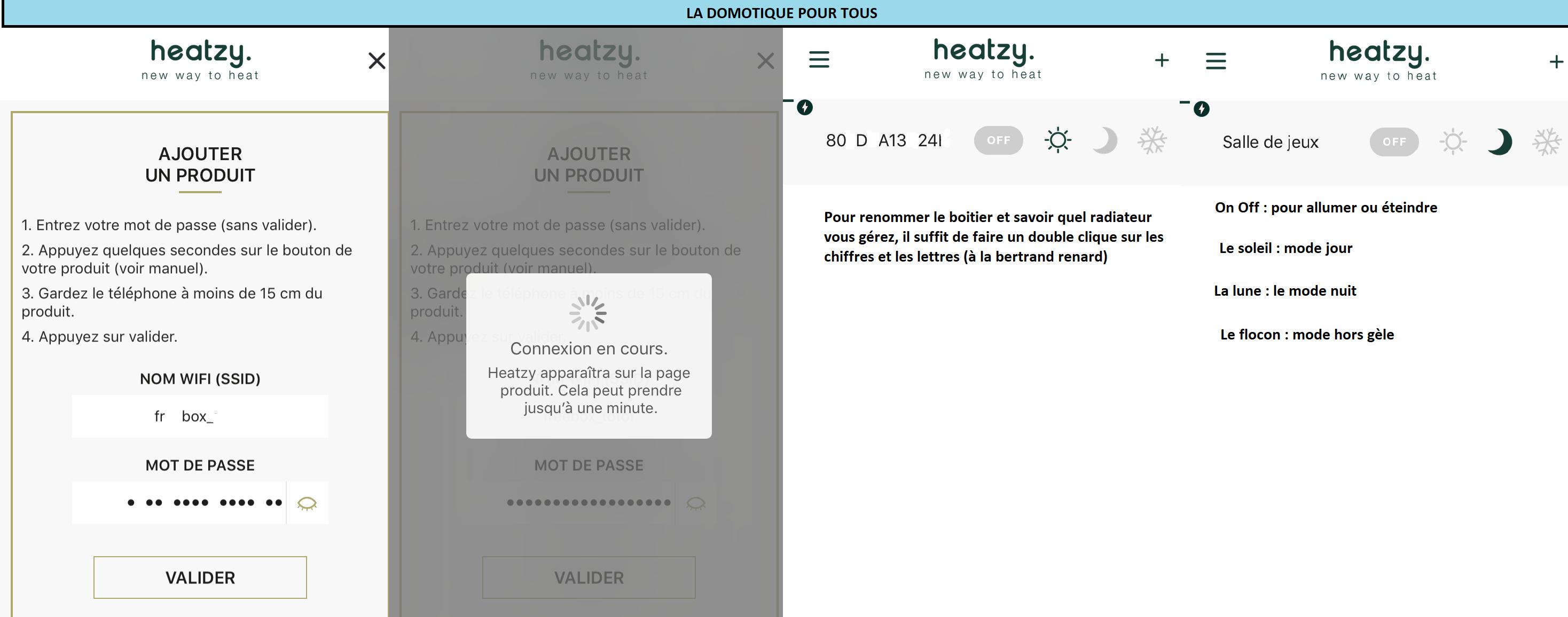 application heatzy