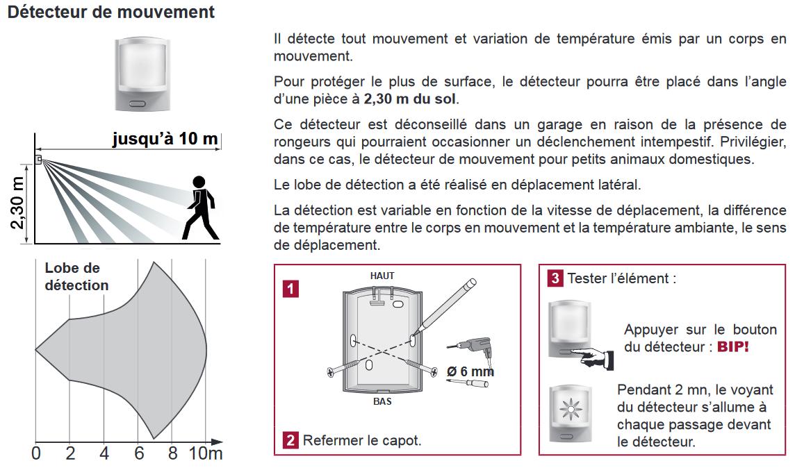 installation detecteur de mouvement