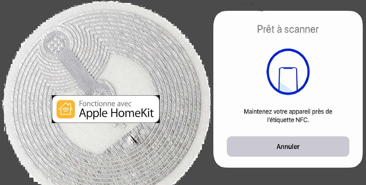 scanner un tag pour Homekit