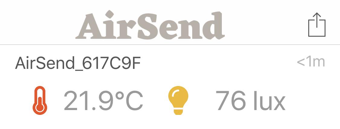 température airsend