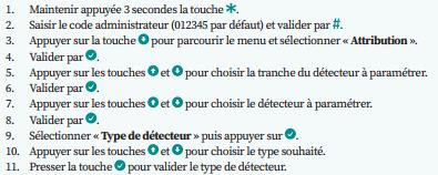 type detecteur