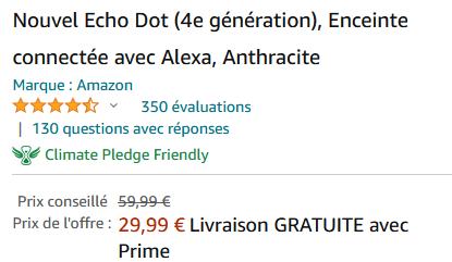 PRIX ECHO DOT 4
