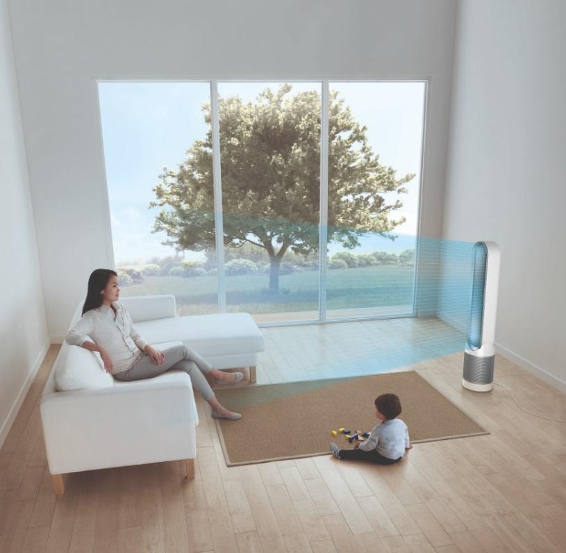 Un ventilateur dans un salon