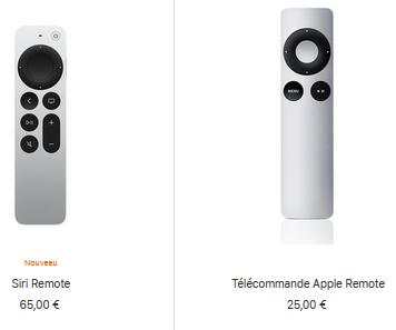 telecommande apple tv 4k nouvelle comparaison