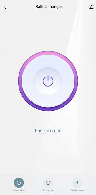 app mode allumé