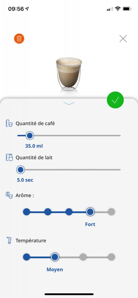 réalisation d'un café delonghi 15