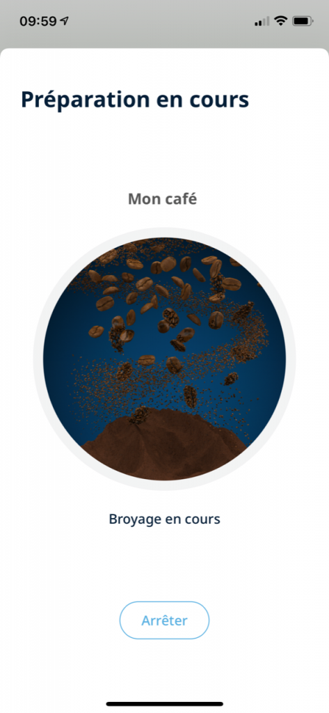 réalisation d'un café delonghi 17
