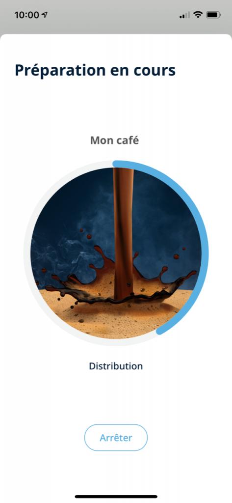 réalisation d'un café delonghi 18