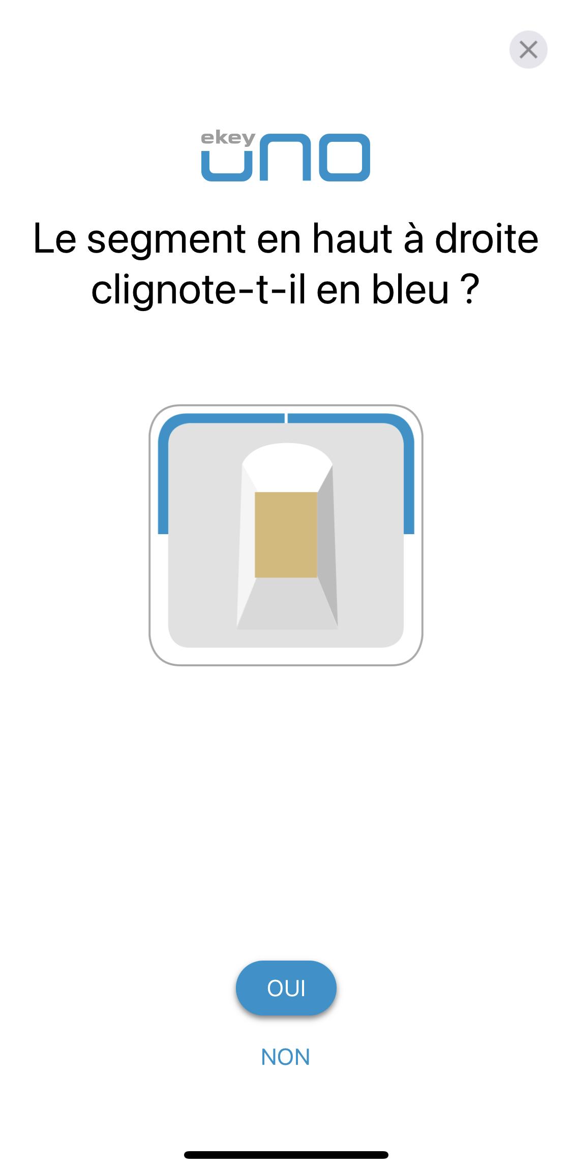 enregistrement du lecteur dans l'application ekey 6